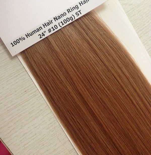 100% human hair nano ring hair extensions cheap hair bundles