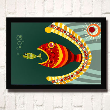 hot selling africa style fish 3d Abstract art picture