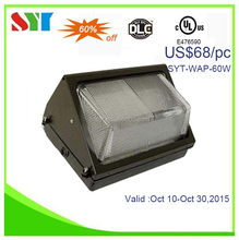 CRI>80 LED wall pack lights UL CUL DLC tunnel garden yard light with MW bridgelux chip SMD 3030 wall pack fixture