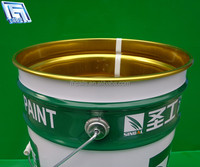 25L green decorative metal bucket/drum for stock,customized