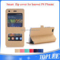 New design! smart flip cover for huawei P8 P8MINI flip case