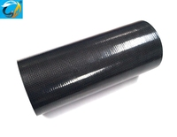 "large diameter roll wrapped plain blank carbon fiber tube 4"" ID x 40"" for tubular vessels , column supports"