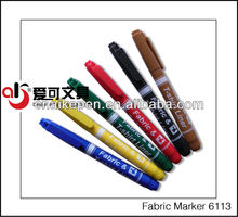 Non-washable permanent fabric marker for textile products