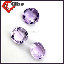 kibogems natural Amethyst circular high quality lightning delivery oval cut Light purple