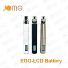 Jomo Tech Manufacturer LCD ego t lcd battery e cigarettes/e-smoking e-cigarette 900mAh only battery