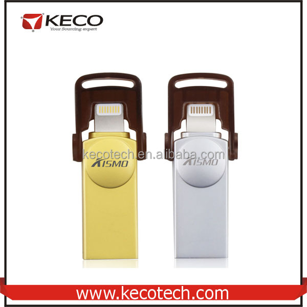 New Sell Kismo OTG USB 2.0 Flash Drive Memory Disk 16G/32G/64G/128G For iPhone / iPad / PC