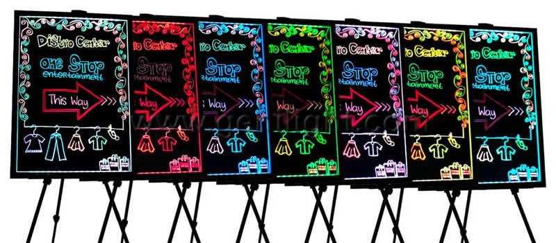 Alibaba.com VIP 6-year Supplier RGB LED Writing board with Acrylic Board