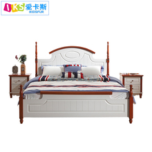 Hot sale white korean latest design bedroom furniture 6105