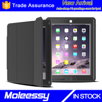 Leather case cover wholesale for the new Apple iPad 4/3/2 black - genuine leather with stand-up feature