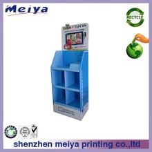 kids game console or learning machine corrugated cardboard display rack