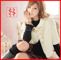 ladies heavy knit winter sweater hand knitting poncho