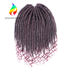 goddness Cheap price factory vendor BUG soft dreadlocs 20 inch 24 roots curly crochet hair wavy faux locs with curl in the end