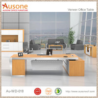 Manager executive luxury l shape pictures of wooden furniture