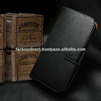 New Leather Flip Case Cover Pouch Bumper Wallet for Samsung Galaxy S5 S 5 V i9600 Black Best Quality