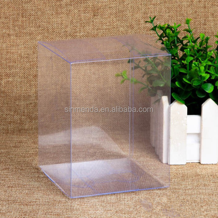 Custom PVC PET foldable clear transparent plastic containers case packaging