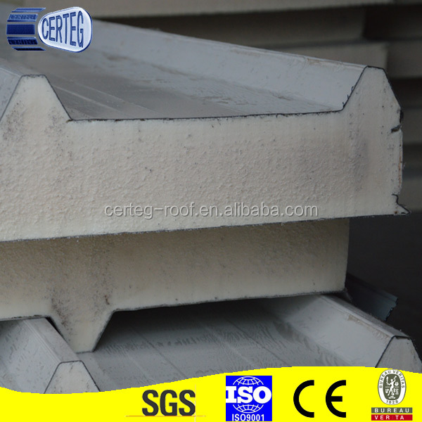 75mm thick PU sandwich panel isopanel