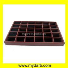 24 grids pu leather jewelry display vanity tray retail for chain store
