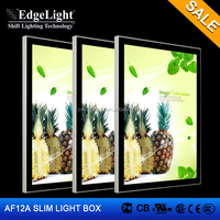 Edgelight AF12A picture frame led light box , magnetic type , CE/ROHS/UL sign boards for shops ,led display