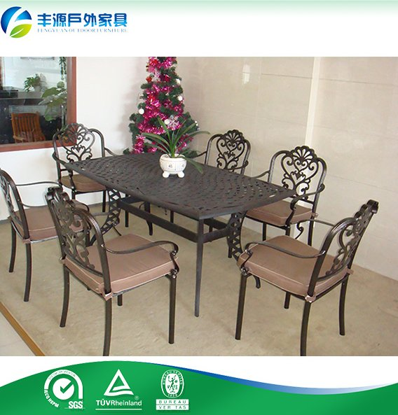 Cast aluminum garden furniture/ cast aluminum dining table and chair