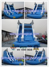 Dolphin Wave Slide Commercial Inflatable Water Slide with Full Pool