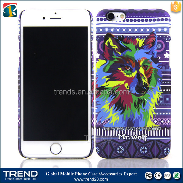 series three Lion eagle panda tiger printed custom hard pc case for iphone 6 6s