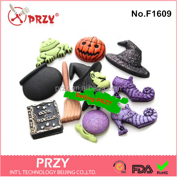 F1609 silicone Halloween fondant cake molds for decoration