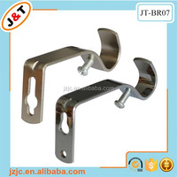 cheap decorative metal curtain rod bracket holder curtain wall bracket