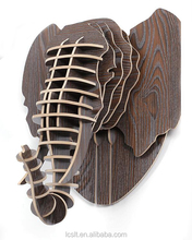 new carved wood decoration wall mounted animal head