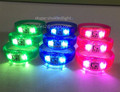 Party supplies sound activated colorful LED flashing bracelet