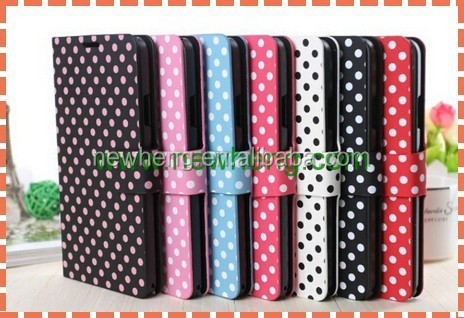 Hot new fashionable Polka Dot leather case For iphone6