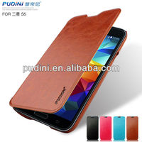 2014 Newest Rui series flip leather case for samsung galaxy s5 leather case four color for choose for samsung s5 leather case