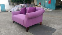 hotel chesterfield well design purple high quality fabric wooden sofa with american style