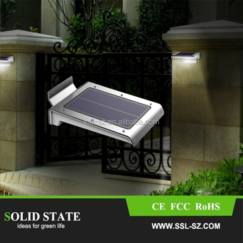 Top selling aluminum high bright 46pcs led lights solar lamp for home garden wall fence