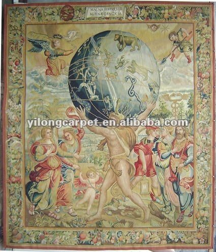 Offer traditional gobelin Aubusson tapestry for sale