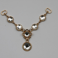 golden welded link ornamental women decorative design metal link chain