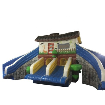 Selling tropical inflatable bounce Slide House inflatable bouncer Kids jumping Outdoor
