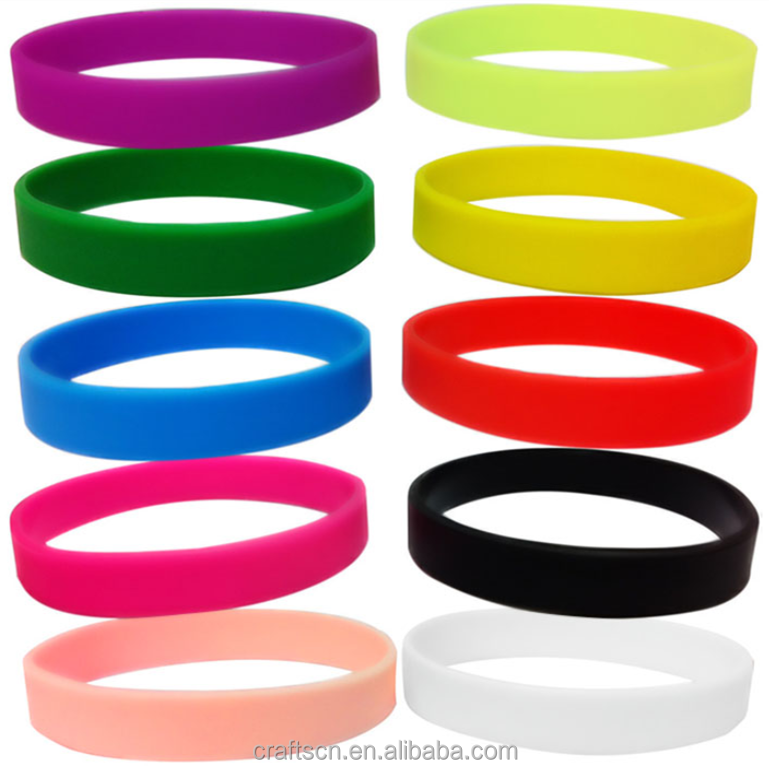 hot sale customized silicone band rubber bracelet mix color