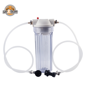 "10"" Beer Filter Housing with 30"" lengths of tubing and liquid ball lock fittings beer brewing equipments"