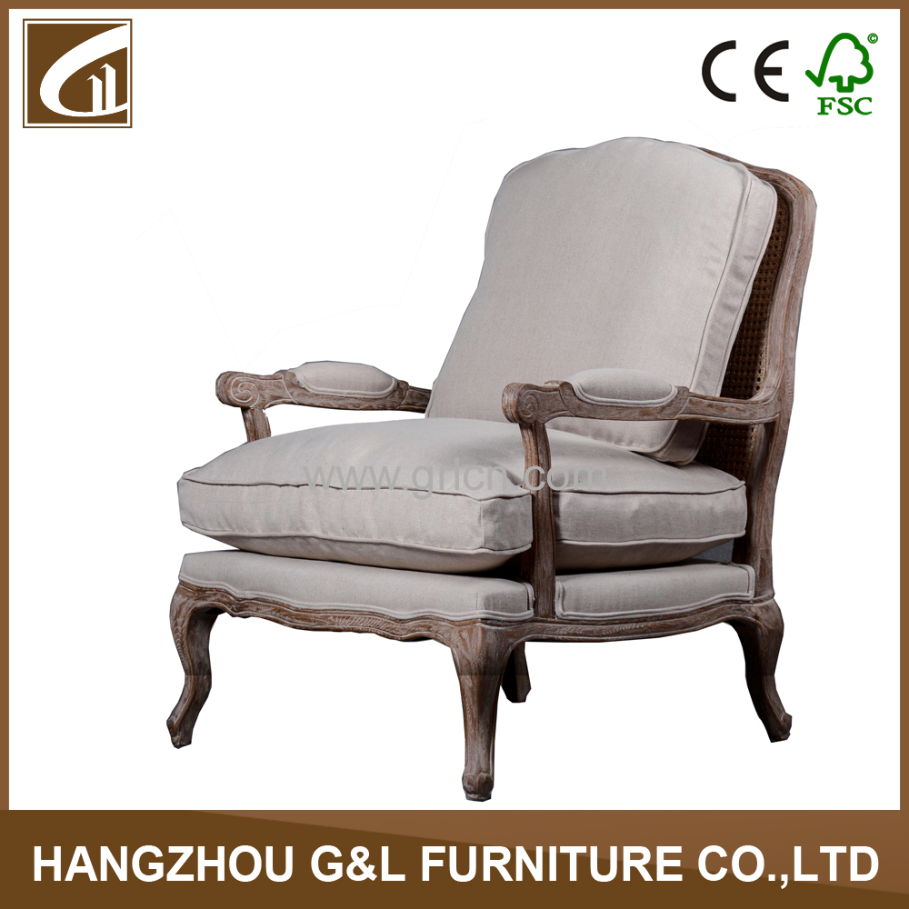 Living room lounge arm chair with stool ottoman french for Living room lounge chair