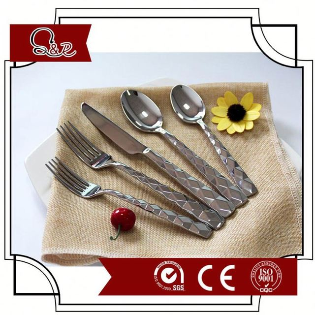 Biodegradable environmental friendly food grade safe pla 18/0 metal kitchen cutlery/utensil Knife/Fork/Spoon