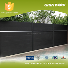 Higg quality Waterproof European WPC Fence for Outdoor