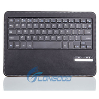 Wireless Bluetooth Keyboard + Folding PU Leather Protective Case For Samsung Note 10.1 P600