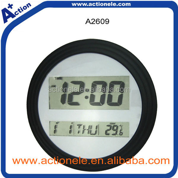 Round Digital Table Clock or Wall Clock