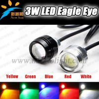 2014 Top sale universal fog light/ led drl day driving lights, 6w 12V led eagle eyes 6W High power car daytime running light led