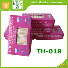 TH-018 1000pcs Bulk bamboo toothpicks in box for snacks food pick