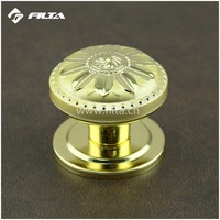 flower satin gold general usage door hardware kitchen door knobs