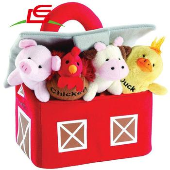 New 2018 Farm Carrier Plush Farm And Animals With Sounds Carrier Set by Animal House Animals Kids Toys