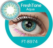Bewitching magic color eye lens Lady superb soft tri tone color contact lenses from South Korea