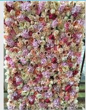 Hot selling rose flower wall backdrop artificial wedding flower wall