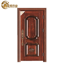 excellent performance commercial royal style modern house cheap exterior security steel wrought iron wood door